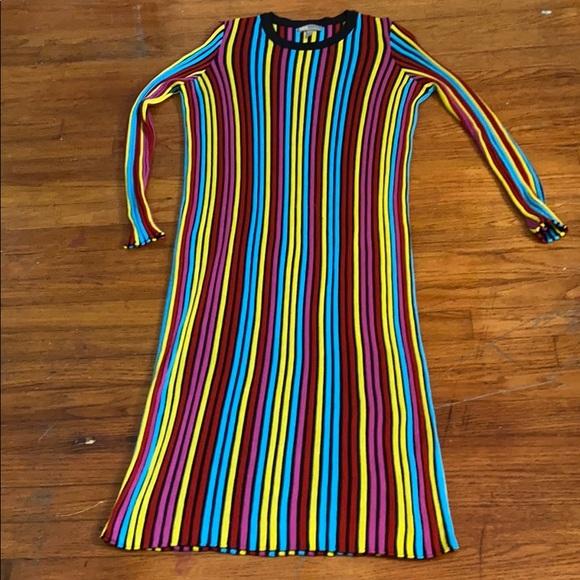 ASOS Rainbow Ribbed Dress